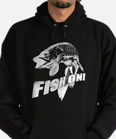 Fish On Musky Hoodie (dark)