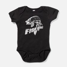 Fish on musky Baby Bodysuit