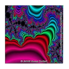 Fractal S~04 Tile Coaster