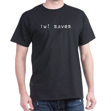 :w! saves Dark T-Shirt