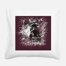 New moon Quiluete Poster Square Canvas Pillow