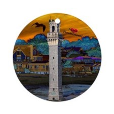 I Love Provincetown Ornament (Round)