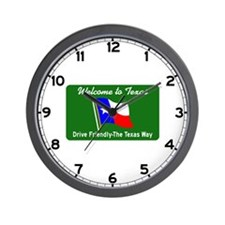 Welcome to Texas - USA Wall Clock