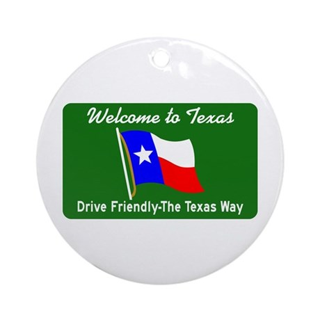 Welcome to Texas - USA Ornament (Round)