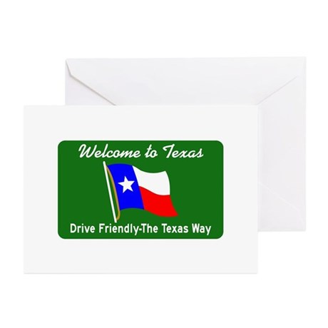 Welcome to Texas - USA Greeting Cards (Package of