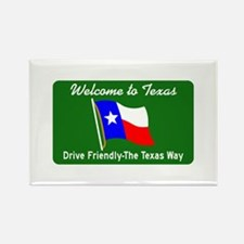 Welcome to Texas - USA Rectangle Magnet