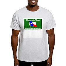Welcome to Texas - USA Ash Grey T-Shirt