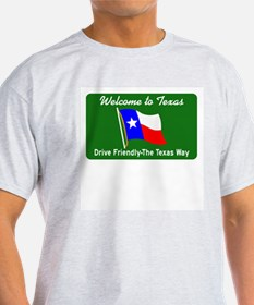 Welcome to Texas - USA Ash Grey T-Shirt
