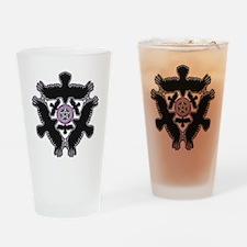 Eleven Crow Pentagram - Purple Drinking Glass