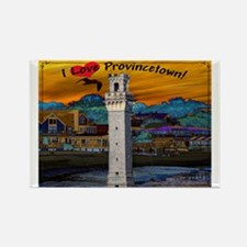 I Love Provincetown Rectangle Magnet