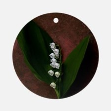 Lily of the Valley Keepsake Round Ornament