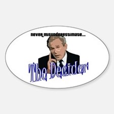 """The Decider"" Oval Decal"