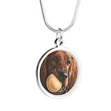 Monet Silver Round Necklace