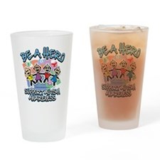 Autism-Be-A-Hero Drinking Glass