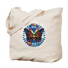Autism-Butterfly-Tribal-2-blk Tote Bag