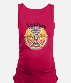 Autism-Butterfly-3 Maternity Tank Top