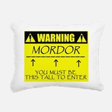 warningmordorthistall Rectangular Canvas Pillow