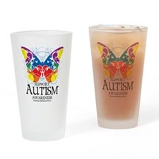 Autism-Butterfly Drinking Glass