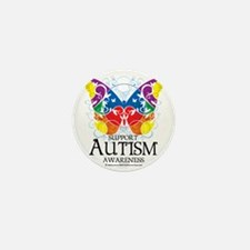 Autism-Butterfly Mini Button