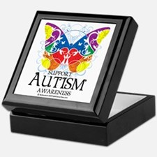 Autism-Butterfly Keepsake Box