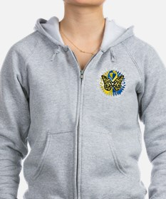 Down-Syndrome-Butterfly-Tribal- Zip Hoodie