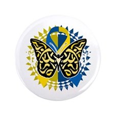 """Down-Syndrome-Butterfly-Tribal-2-blk 3.5"""" Button"""