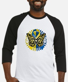 Down-Syndrome-Butterfly-Tribal-2-b Baseball Jersey
