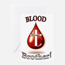 Blood Bought Brother Greeting Card