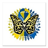 Down syndrome awareness Square Car Magnets