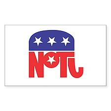 Anti-Republican Rectangle Decal