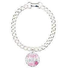 BC-Fight-Like-A-Girl-2-b Charm Bracelet, One Charm