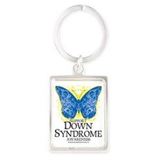 Down-Syndrome-Butterfly Portrait Keychain