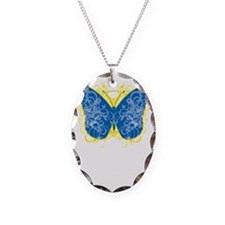Down-Syndrome-Butterfly-blk Necklace