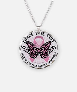 Breast-Cancer-Butterfly-Trib Necklace
