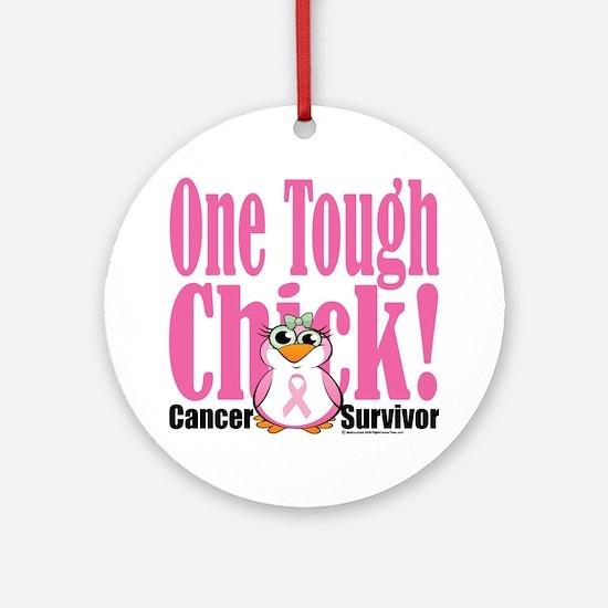 BC-One-Tough-Chick Round Ornament