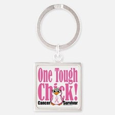 BC-One-Tough-Chick Square Keychain