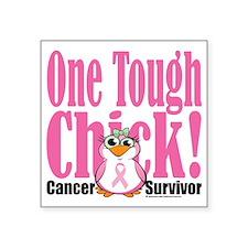 "BC-One-Tough-Chick Square Sticker 3"" x 3"""