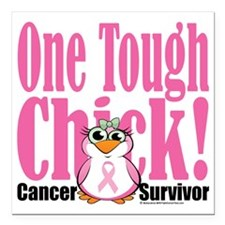 "BC-One-Tough-Chick Square Car Magnet 3"" x 3"""