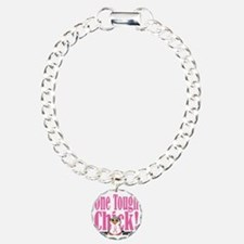 BC-One-Tough-Chick Charm Bracelet, One Charm