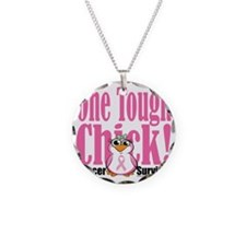 BC-One-Tough-Chick Necklace Circle Charm