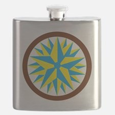 triple star hex clear Flask