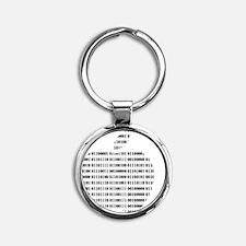 Apple Binary Round Keychain