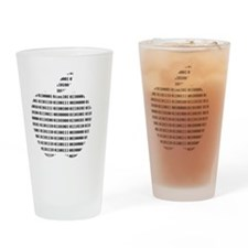 Apple Binary Drinking Glass