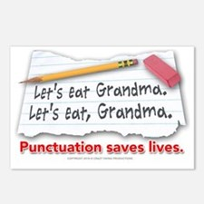 punctuation-shirt Postcards (Package of 8)