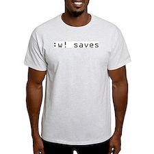 :w! saves T-Shirt