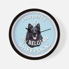 PAWPERTY OF BELGIAN SHEEPDOG Wall Clock