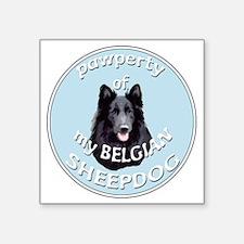 "PAWPERTY OF BELGIAN SHEEPDO Square Sticker 3"" x 3"""