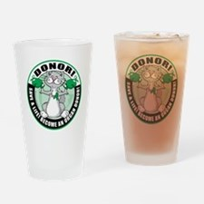Organ-Donor-Cat-Donor Drinking Glass