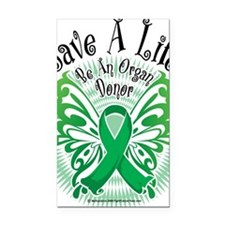 Organ-Donor-Butterfly-3 Rectangle Car Magnet