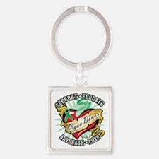 Organ-Donor-Classic-Tattoo Square Keychain